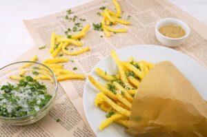 sód - frytki z solą i ziołami